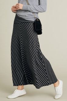 Capture Merino Chevron Stripe Maxi Skirt - 218934