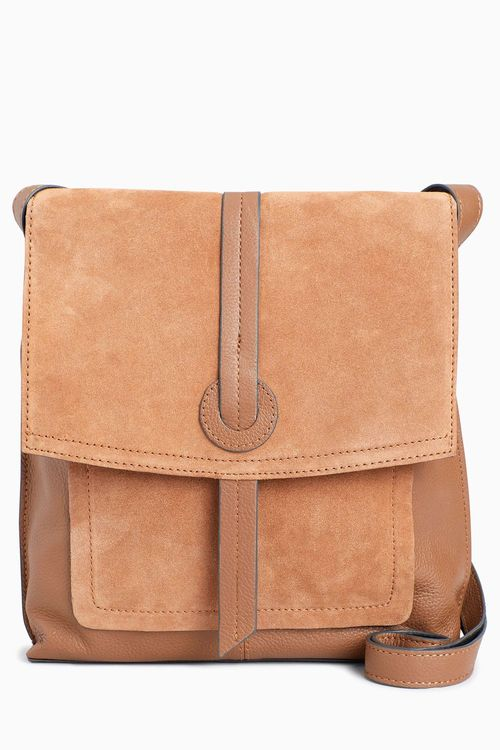 Next Leather Messenger Bag
