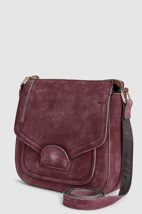 Next Suede Saddle Bag