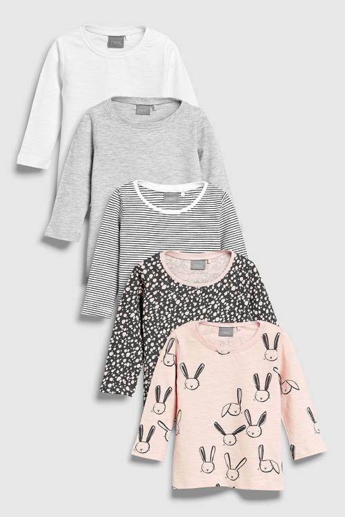Next Long Sleeve T-Shirts Five Pack (3mths-6yrs)