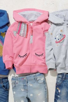 Next Unicorn Face Hoody (3mths-6yrs)
