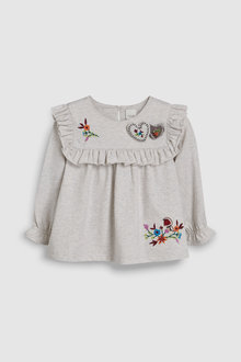 Next Heart Embroidered Top (3mths-6yrs)