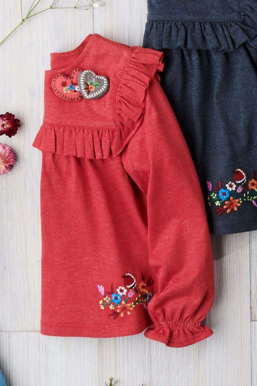Next Heart Embroidered Top (3mths-6yrs) Online | Shop EziBuy