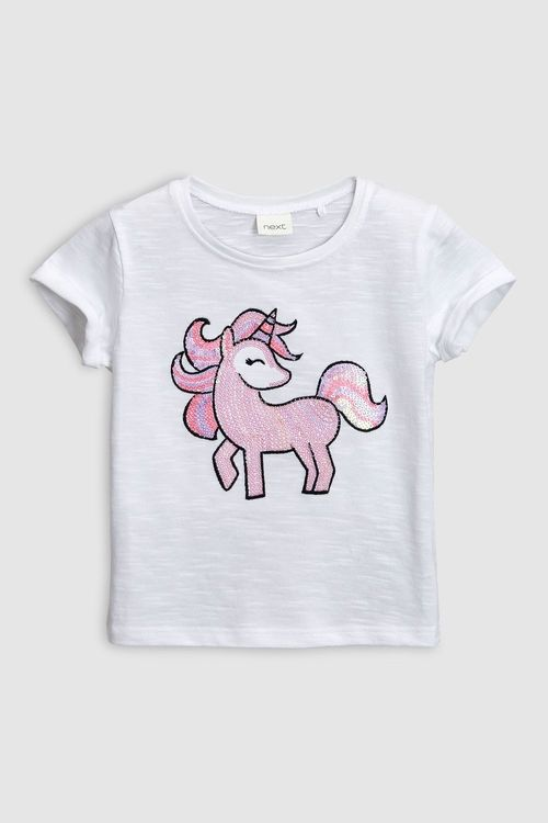 Next Unicorn Sequin Short Sleeve T-Shirt (3mths-6yrs)