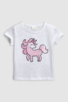 Next Unicorn Sequin Short Sleeve T-Shirt (3mths-6yrs)