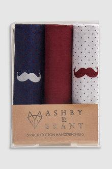 Next Ashby & Brant Cotton Handkerchiefs Three Pack