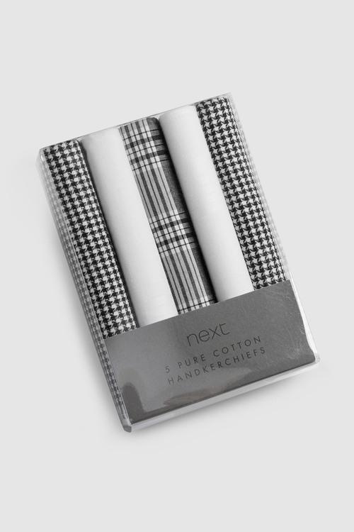 Next Checked Handkerchiefs Five Pack