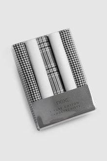 Next Checked Handkerchiefs Five Pack - 219029