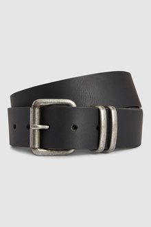 Next Leather Belt With Metal Loops