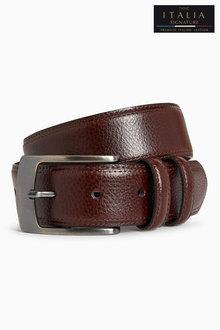 Next Signature Italian Leather Stitched Edge Belt