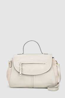 Next Leather Top Handle Tote