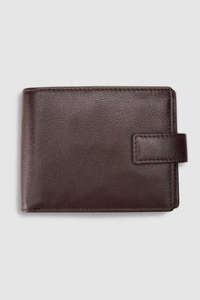 Next Signature Italian Leather Extra Capacity Popper Wallet