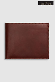 Next Signature Black Label Italian Leather Bifold Wallet
