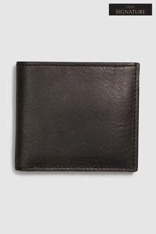 Next Signature Black Label Leather Bifold Wallet