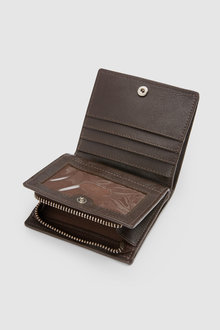 Next Leather Bifold Wallet With Zip Pocket