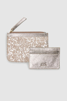 Next Leather Purse And Card Holder Gift Set
