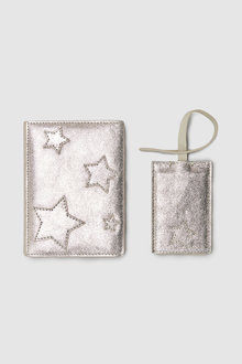 Next Leather Passport Holder And Luggage Tag Set