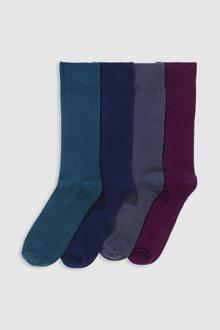Next Bamboo Colour Socks Four Pack