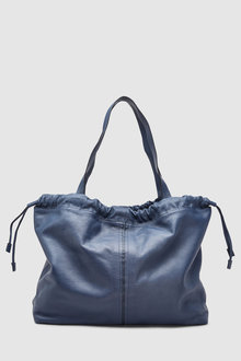 Next Leather Ruched Shopper