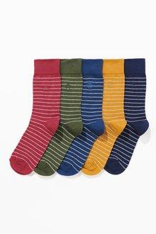 Next Fine Stripe Socks 5 Pack