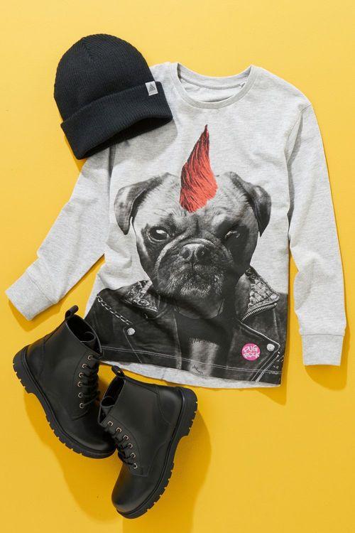 Next Pug Rock T-Shirt (3-16yrs)