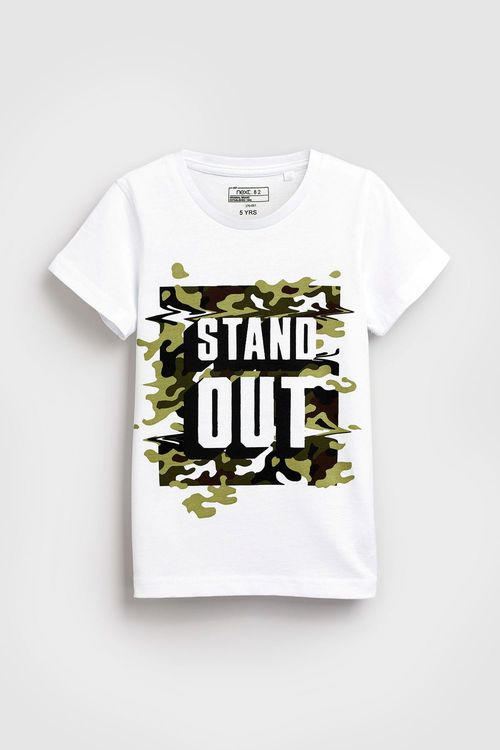 Next Stand Out Camo Print T-Shirt (3-16yrs)