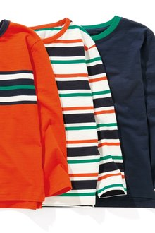Next Striped Long Sleeve Tops 3 Packs