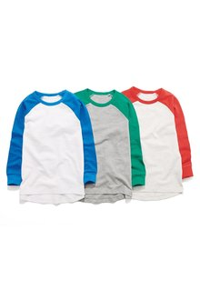 Next Long Sleeve Raglan T-Shirts Three Pack (3-16yrs)