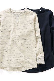 Next Textured Long Sleeve Top Two Pack (3-16yrs)