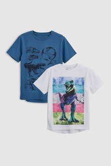 Next Short Sleeve Graphic T-Shirts Two Pack (3-16yrs)