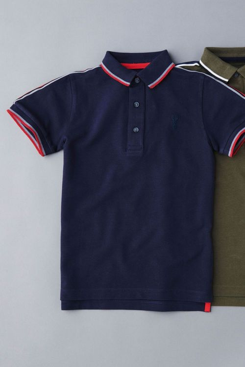 Next Short Sleeve Taped Polo (3-16yrs)