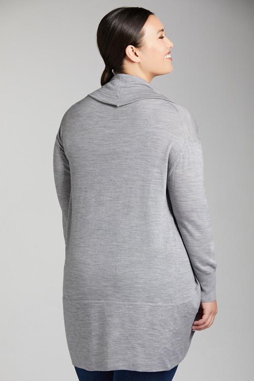 Plus Size - Sara Merino Cocoon Cardi