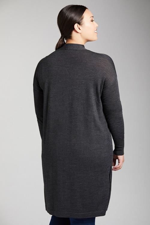 Plus Size - Sara Merino Longline Cardi
