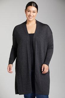 Plus Size - Sara Merino Longline Cardi - 219239