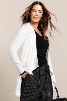 Plus Size - Sara Merino Longline Drape Cardi