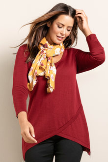 Plus Size - Sara Merino Asymmetric Zip Sweater