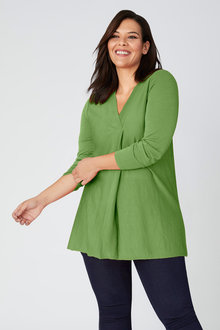 Plus Size - Sara Merino Pleat Top - 219245