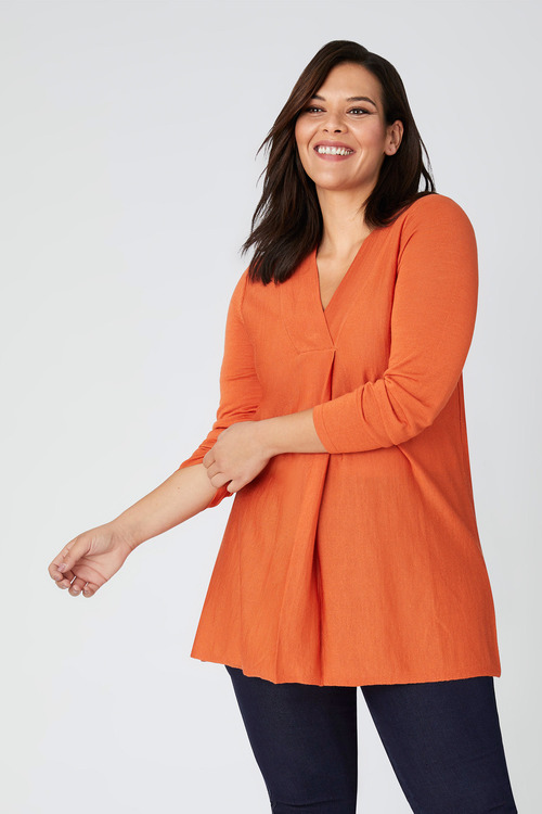 Plus Size - Sara Merino Pleat Top
