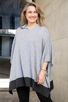 Plus Size - Sara Merino Poncho