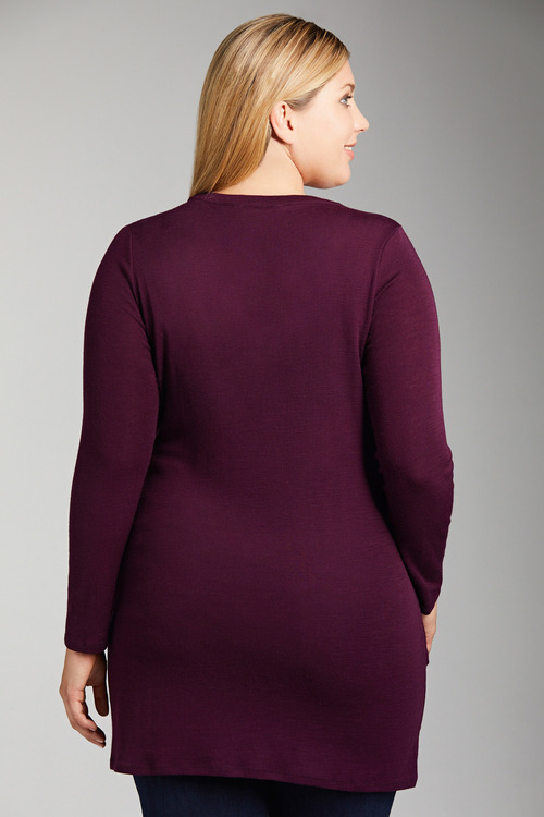 Plus Size - Sara Merino Double Layer Tunic