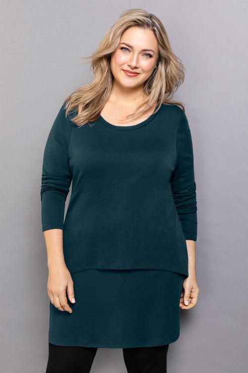 Plus Size - Sara Merino Double Layer Tunic