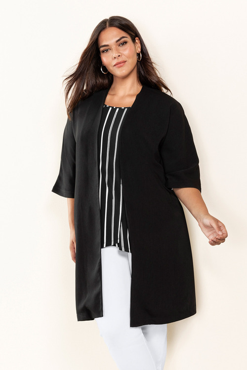Plus Size - Sara Longline Jacket