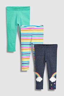 Next Rainbow Leggings Three Pack (3mths-6yrs)