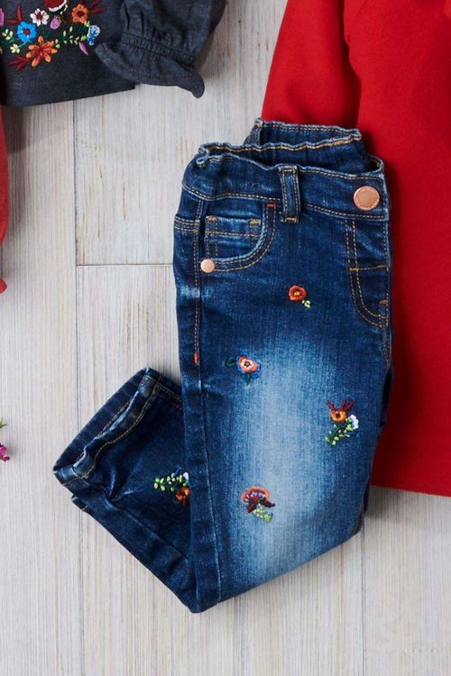 Next Floral Embroidered Jeans (3mths-6yrs)