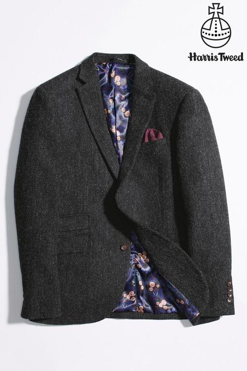 Next Signature Harris Tweed Herringbone Tailored Fit Jacket
