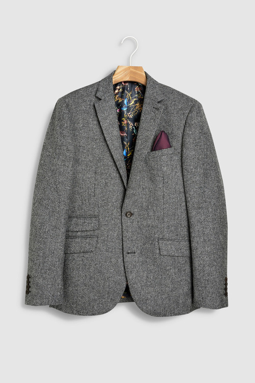 Next Slim Fit Signature British Wool Donegal Jacket