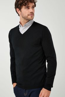 Next Merino V-Neck Jumper