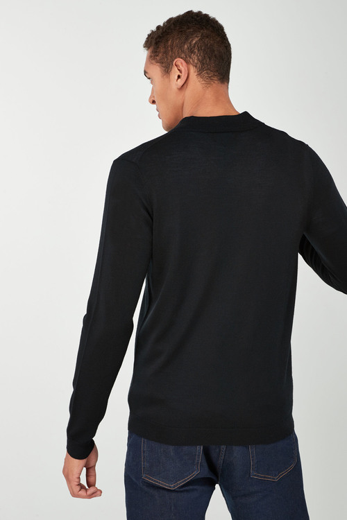 Next Merino Zip Neck