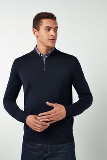 Next Merino Zip Neck - 219348