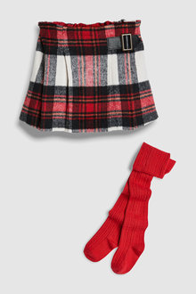 Next Check Skirt And Tights Set (3mths-6yrs)